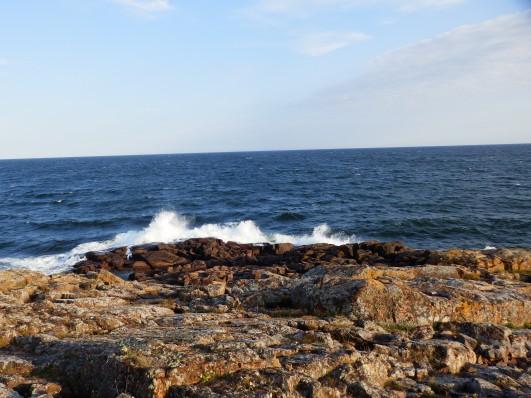 Öppet hav ändå från Sveariket = höga vågor.